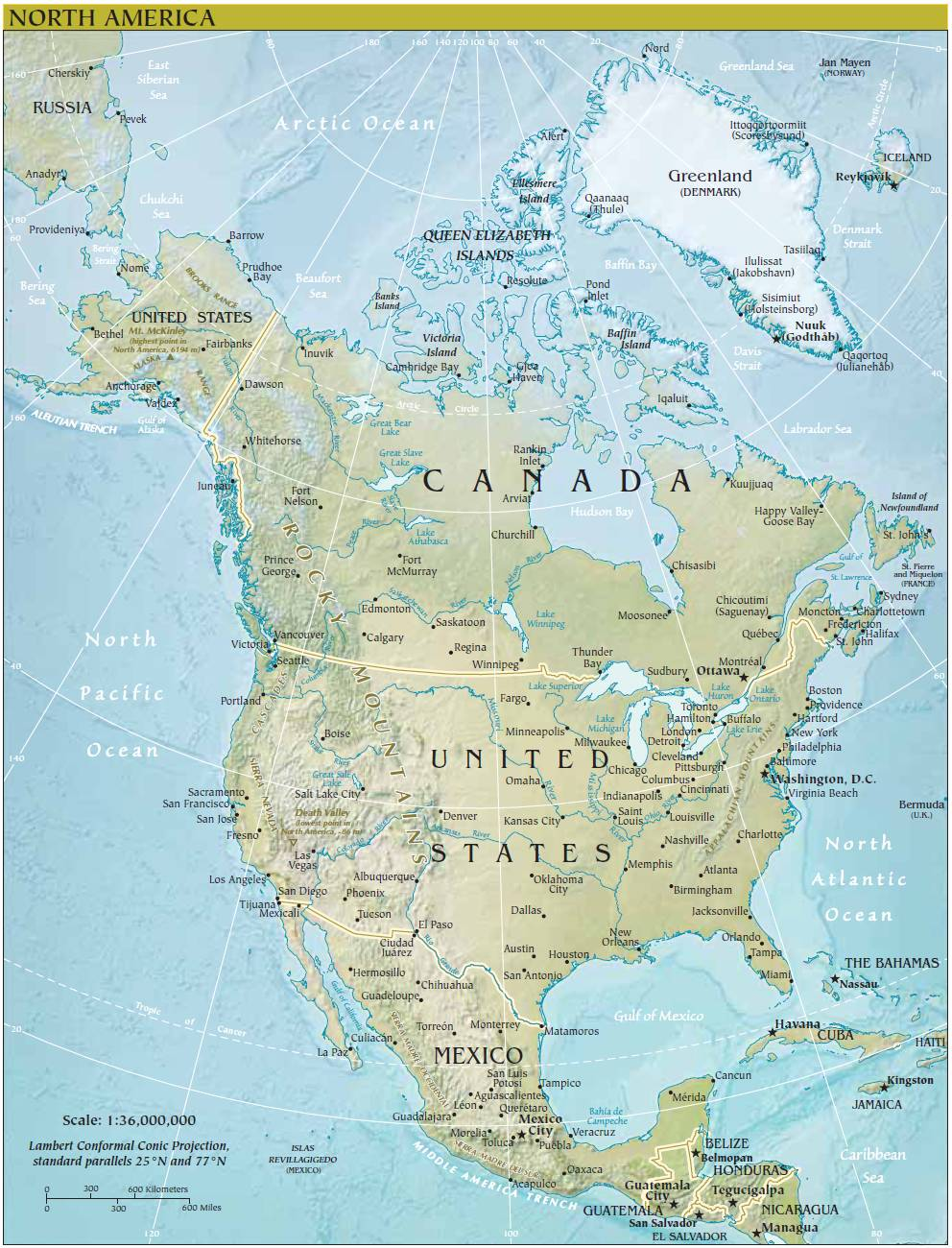 Rivers in north america map