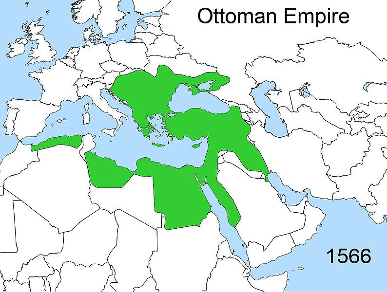 ottoman empire location 2